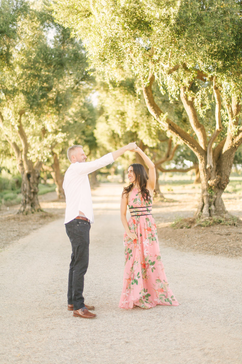 Ryan twirls Jada at Clairmont Lavendar farms