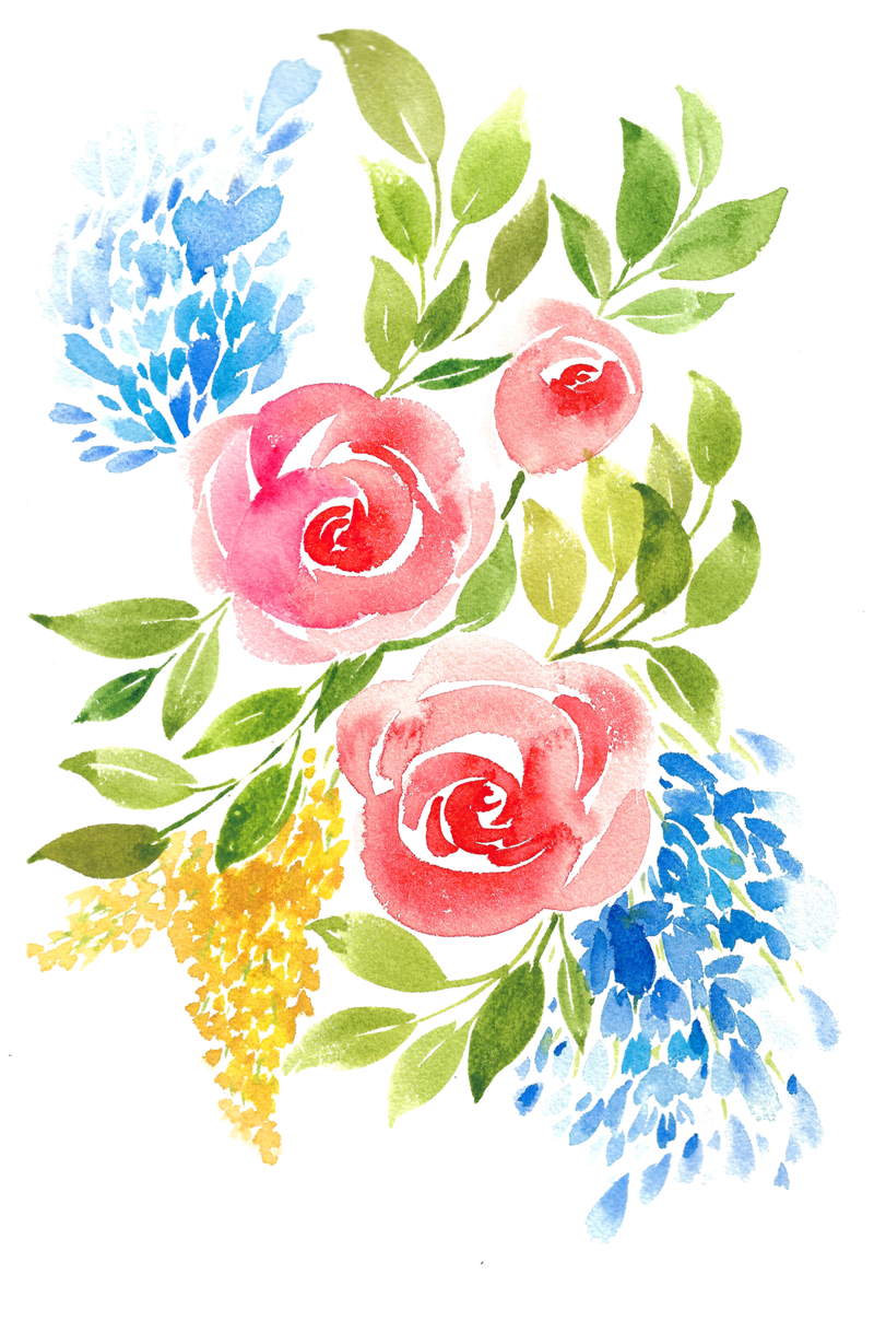 floral watercolor 2020