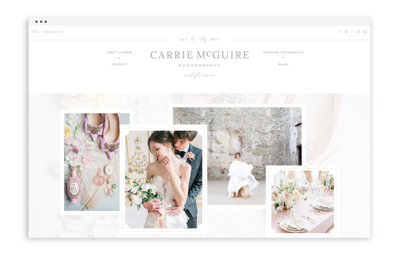 Carrie McGuire Photography - Custom Brand and Showit Web Design Website by With Grace and Gold - 11