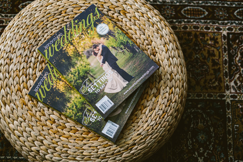 San Antonio Weddings Magazine cover by Expose The Heart Photography