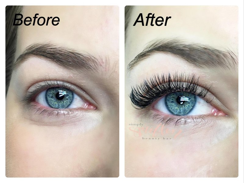 lash extension from Simply Smitten Beauty Bar