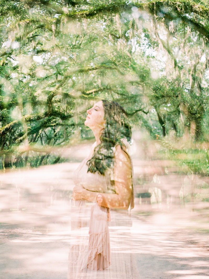 double exposure motherhood maternity