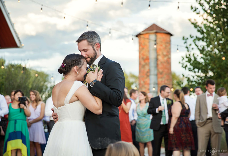 First Dance on the outdoor patio Chatfield Farms Denver Colorado