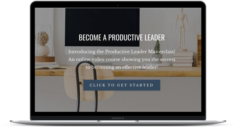 The Productive Leader Masterclass Computer