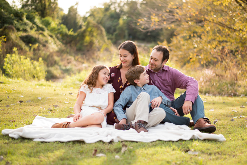 Fall Family Session at Meyer Park in Spring, TX