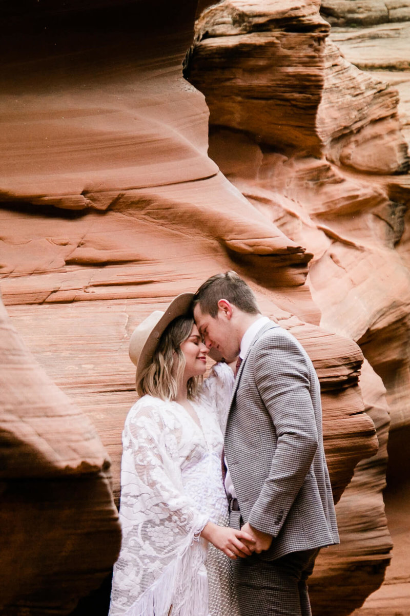 bride and groom during page arizona elopement aimee flynn photo