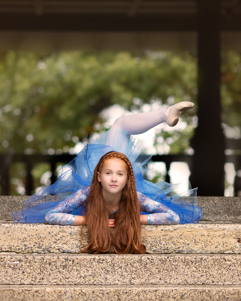 Ballet dancer photography session