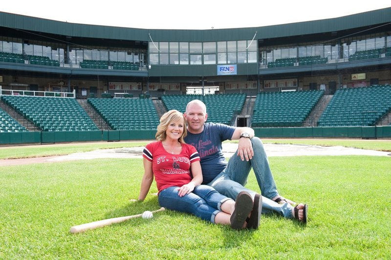 Fargo Red Hawks Engagement session at the stadium by kris kandel (9)