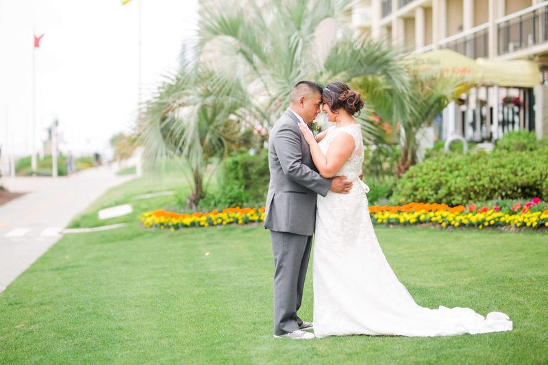 Bride & Groom at their Hilton Garden Inn Oceanfront wedding, Virginia Beach, VA
