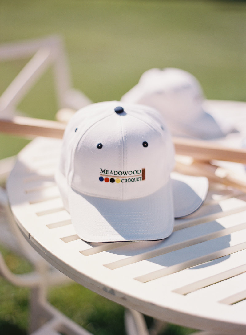 Hats for croquet and brunch at Meadowood for corporate event by Jenny Schneider Events in Napa Valley, California.