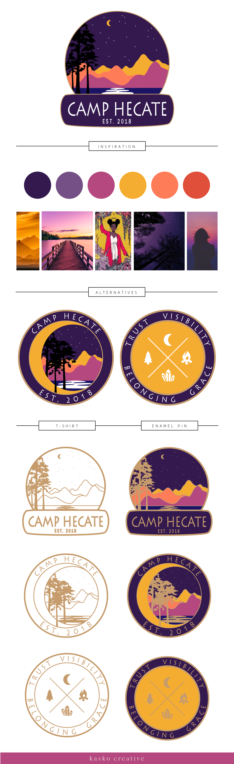 Camp Hecate Brand Board