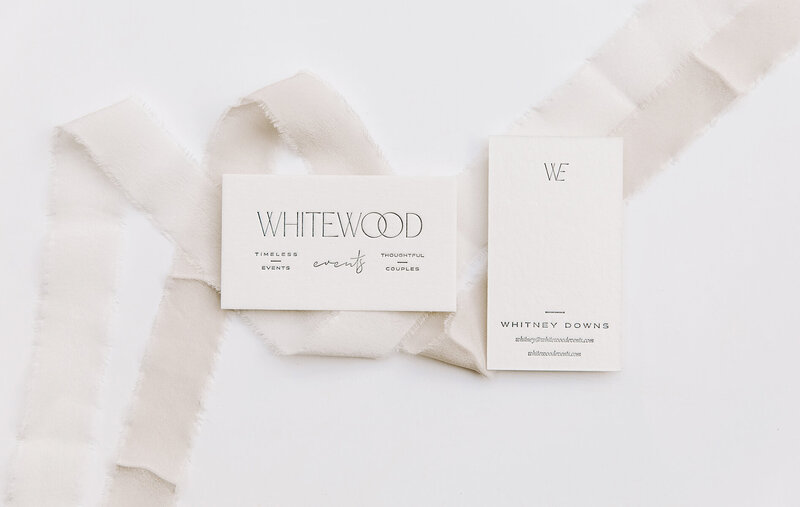 Whitewood Events Business Card by Rhema Design Co