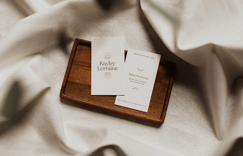 Kayley Lorraine Letter pressed business cards, by Rhema.