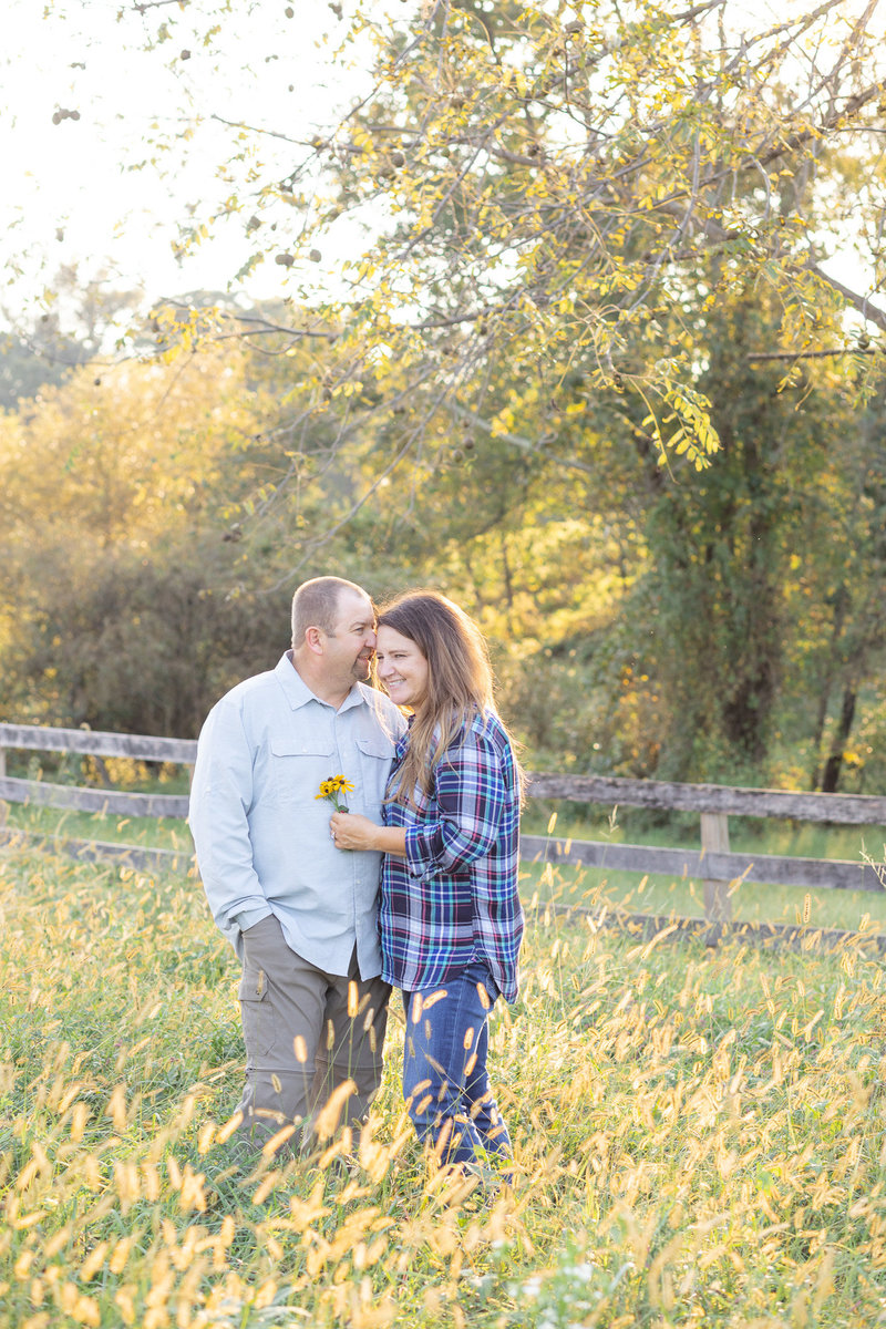 Northern Harford County Engagement Session in the field at sunset