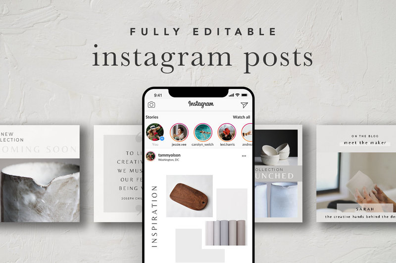 Instagram Posts Canva Template Cover Image
