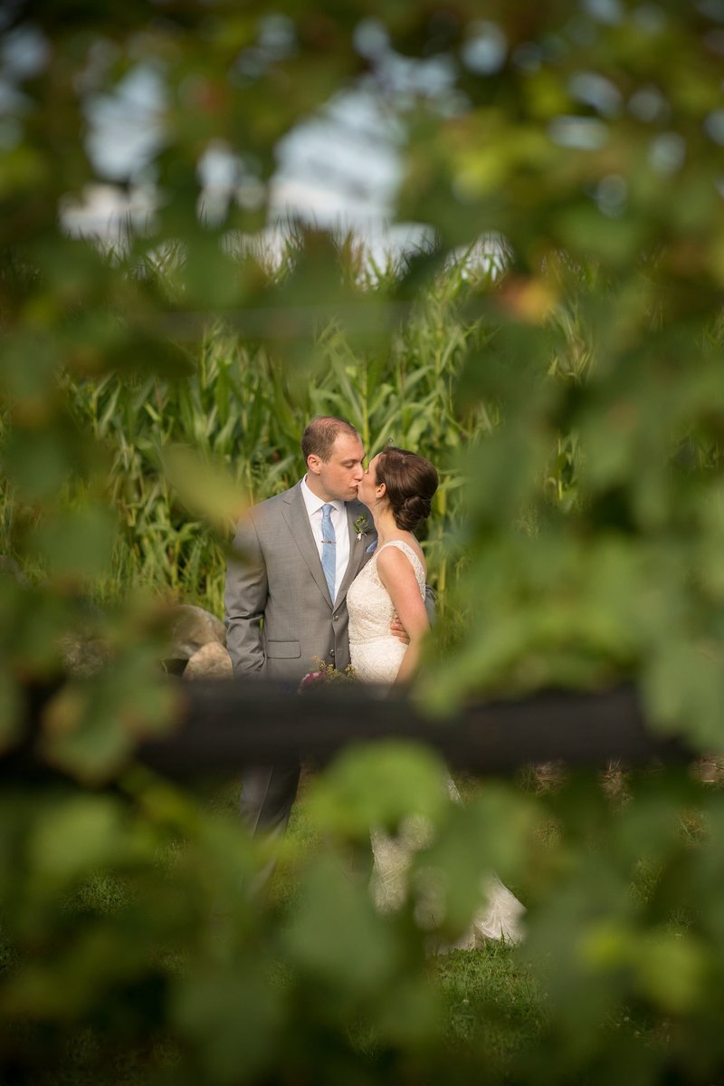 Summer wedding at Jonathan Edwards Winery in North Stonington, CT