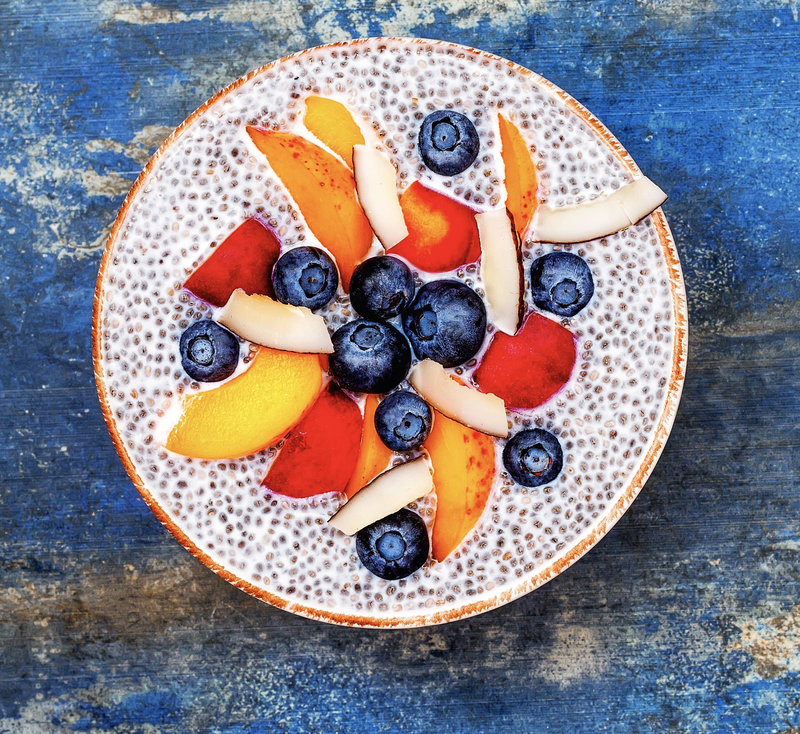 chia pudding fruit bowl (cropped)