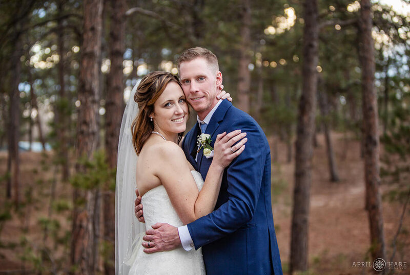 Winter Wedding in a Forest at Black Forest Wedgewood Weddings in Colorado Springs