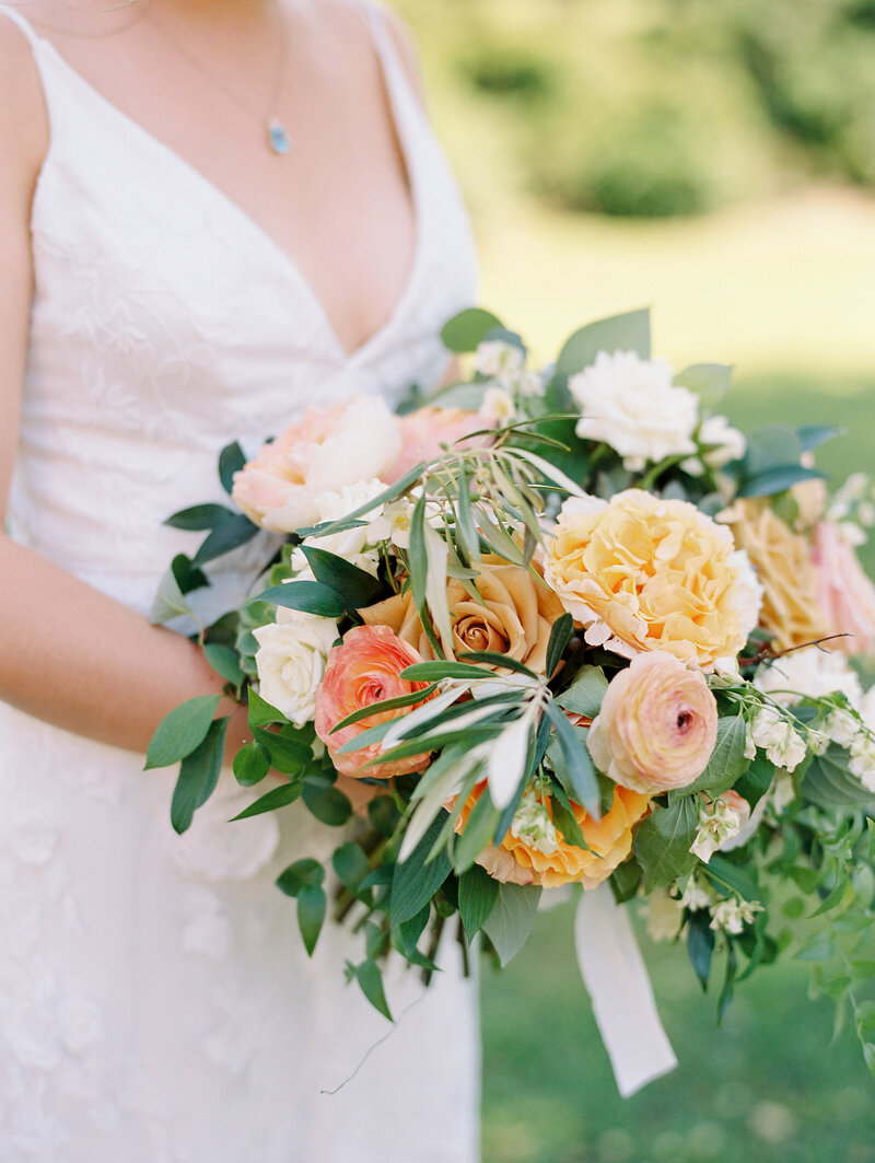 Peachy and Orange Bridal Bouquet