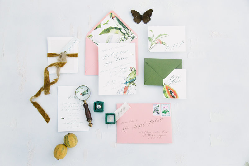 Wedding day details of Palm Springs Elopement