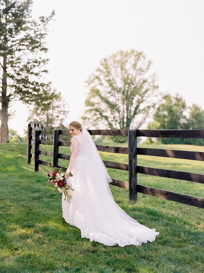 Outdoor Bridal Portrait at the Salamander Resort