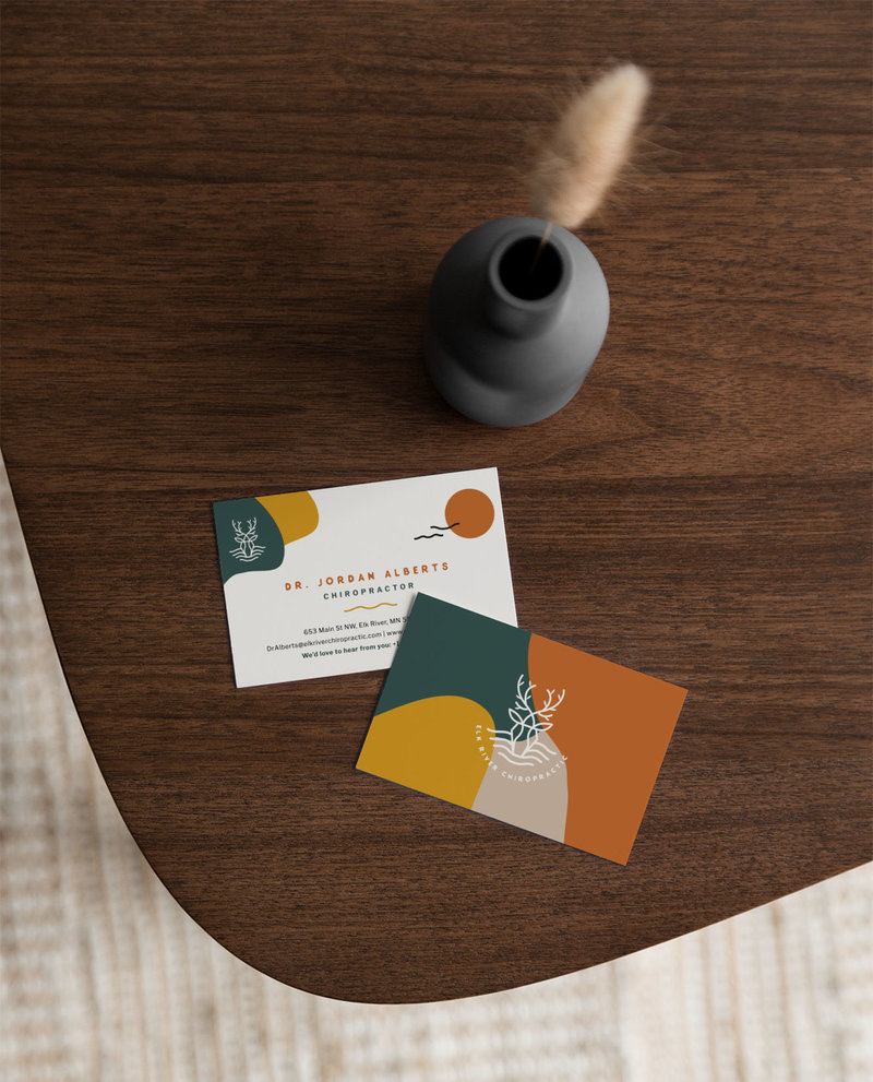 Elk River Chiropractic Business Card Mockup