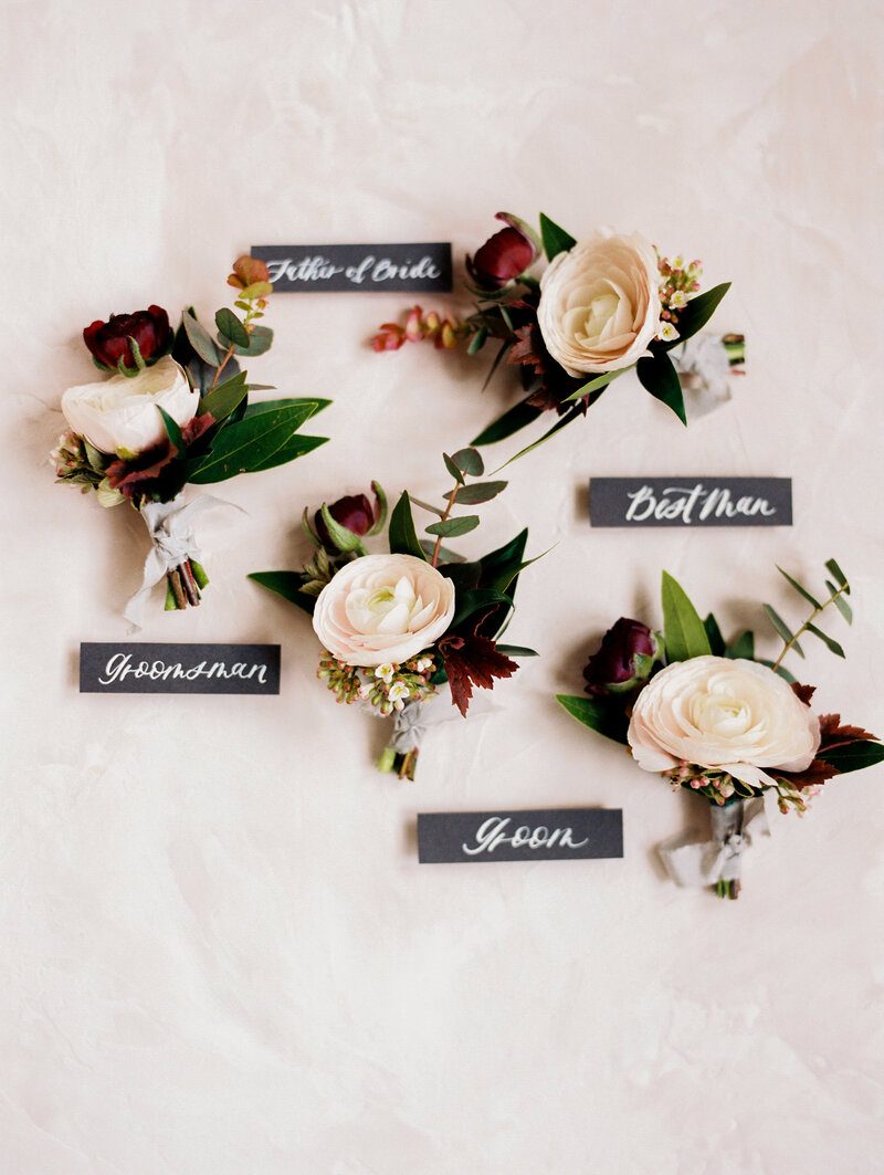 Boutonnieres  and Calligraphy