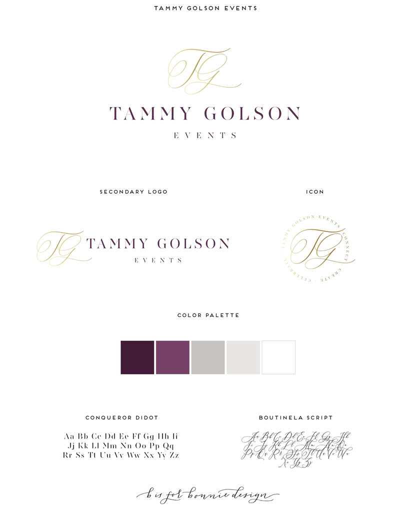 Tammy Golson Events Brand Board