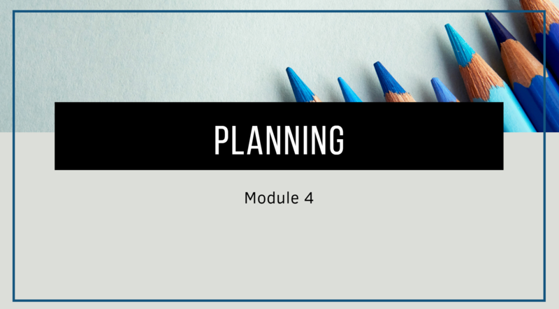 module 4 in Home Exercise 101 is all about planning your workouts