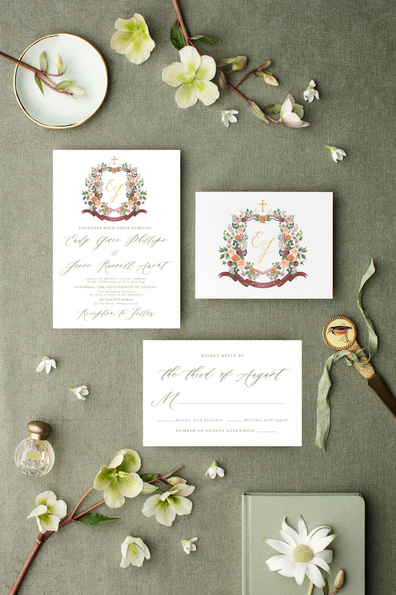 wedding-crest-stationery-The-Welcoming-District-Emily-Jesse