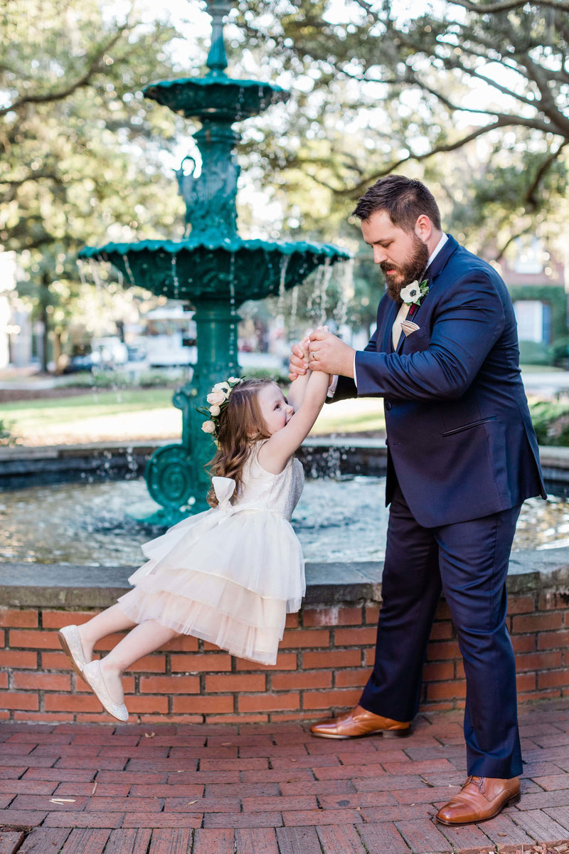 Nicole and Robert's elopement in Lafayette Square with their kids