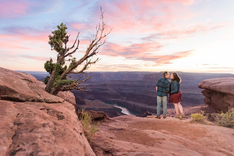 Sunset Engagement Session at Dead Horse Point