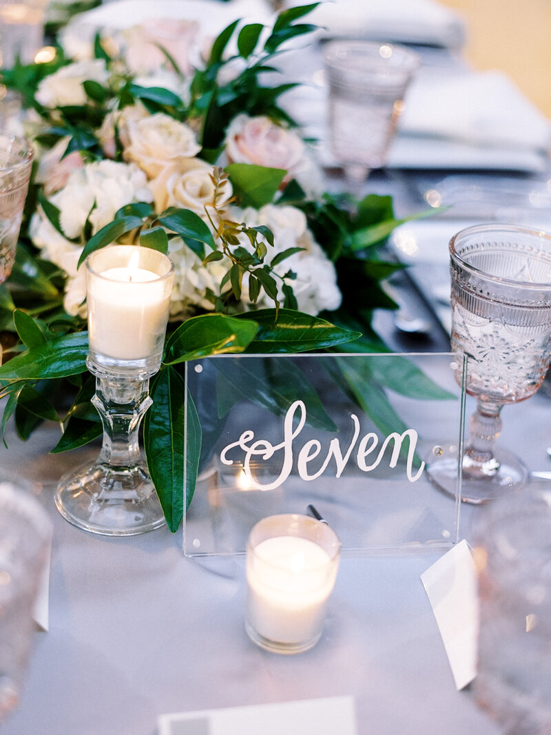 Lucite Wedding Details
