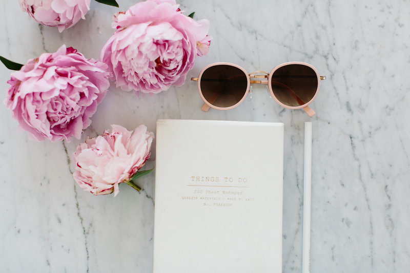 blue cloud bookkeeping sunnies and pink flowers