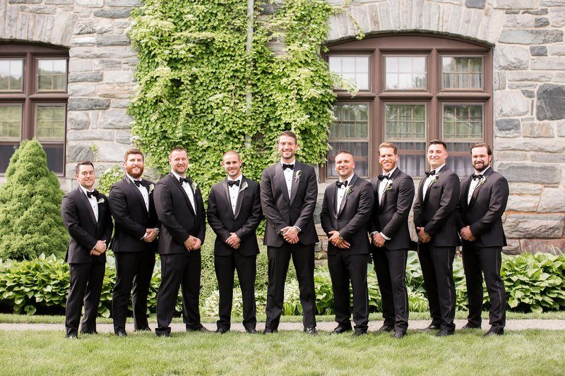 Groomsmen photo at Castle Hill Inn