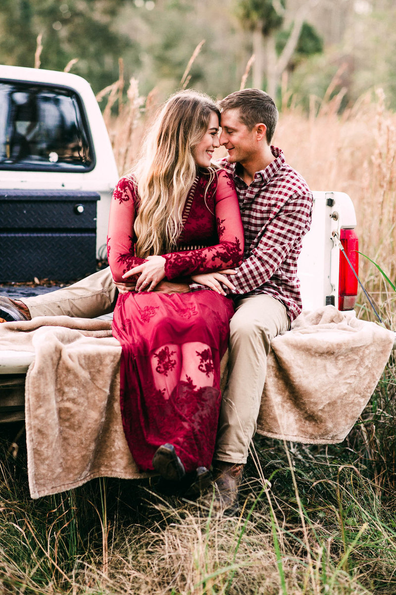 Truck bed engagement Session in Dunnellon