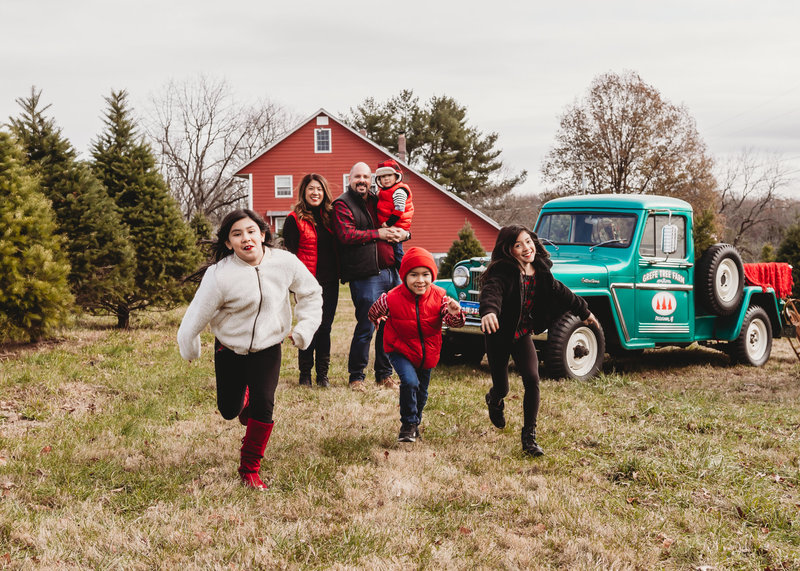 holiday outdoor family sessions