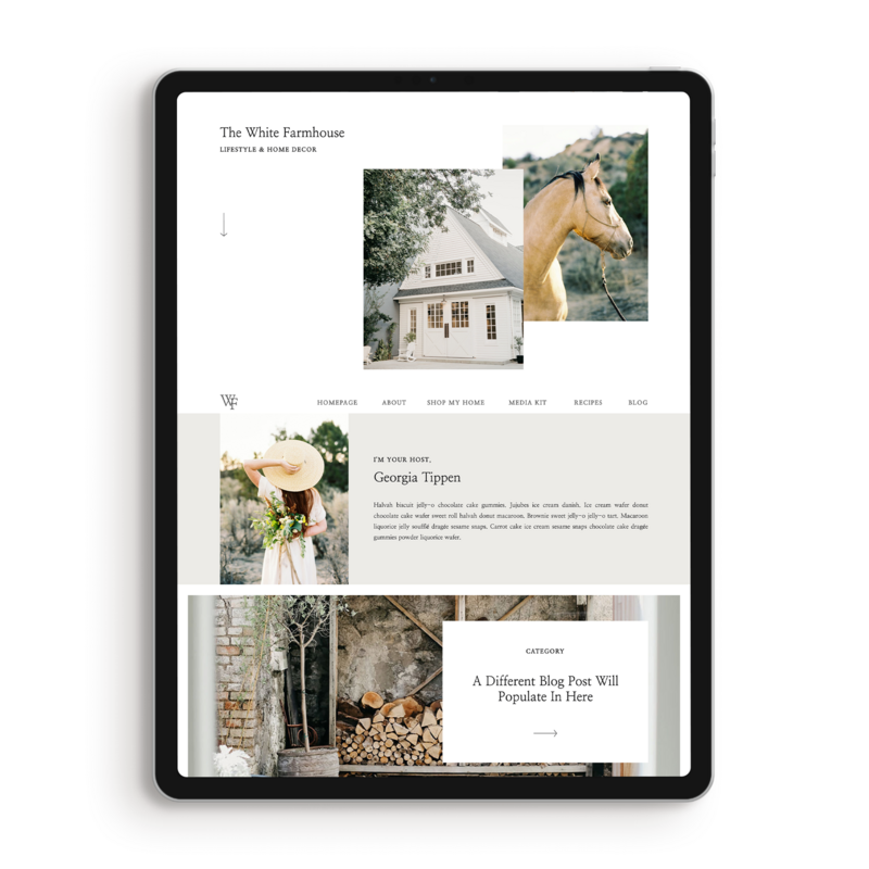 Tippen Showit Blog Template Lifestyle