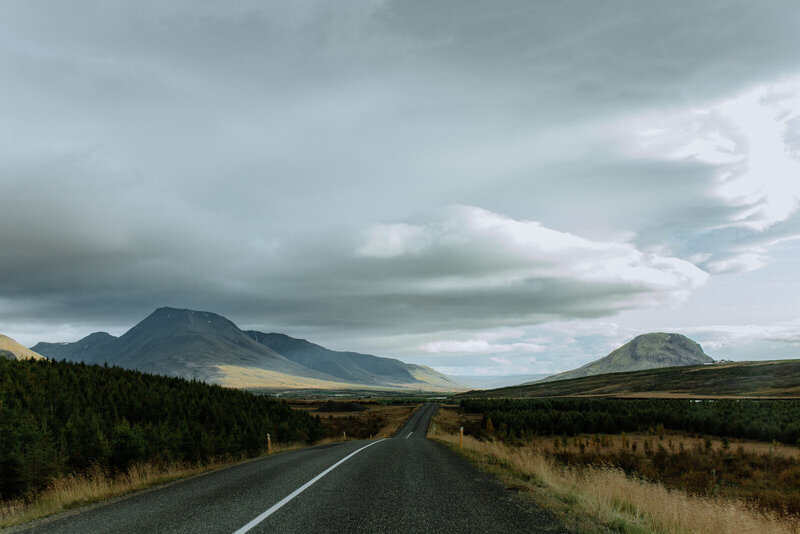 road with mountains
