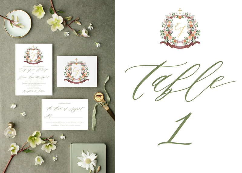 watercolor-wedding-crest-stationery-The-Welcoming-District