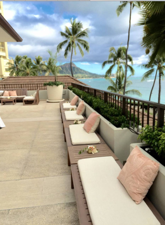 Hau Terrace pillows- hawaii wedding rentals