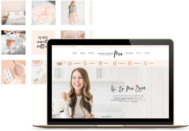 Handcrafting Heartfelt Brand Designs & Web Designs for Female Creatives | Viva la Violet | Showit | Showit Designer | Showit Websites | Nutrition by Mia