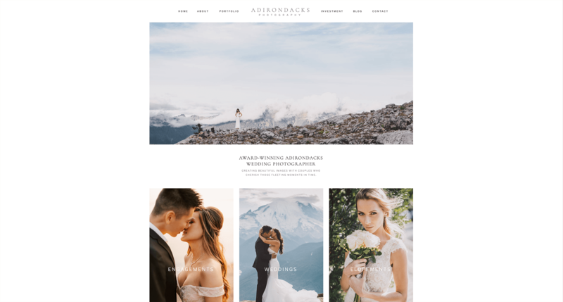 Adirondacks ShowIt Website Template for Photographers 2