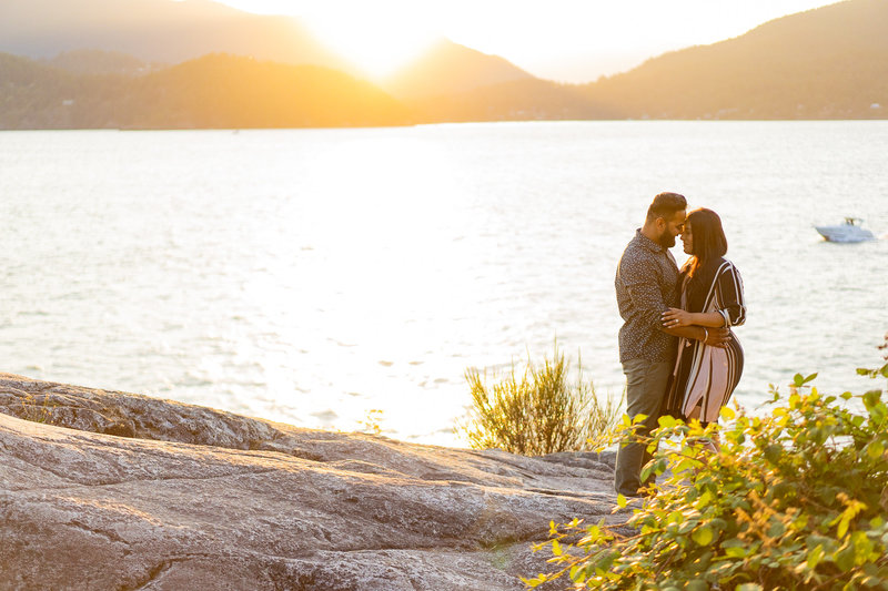 Sunset photos at West Vancouver portrait session