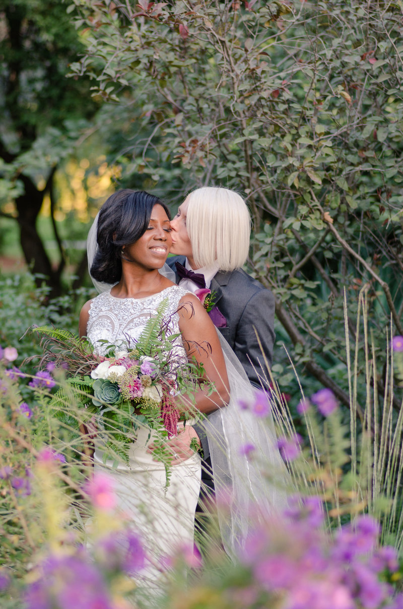 LGBT Wedding at the UC Davis Arboretum by Adrienne and Dani Photography