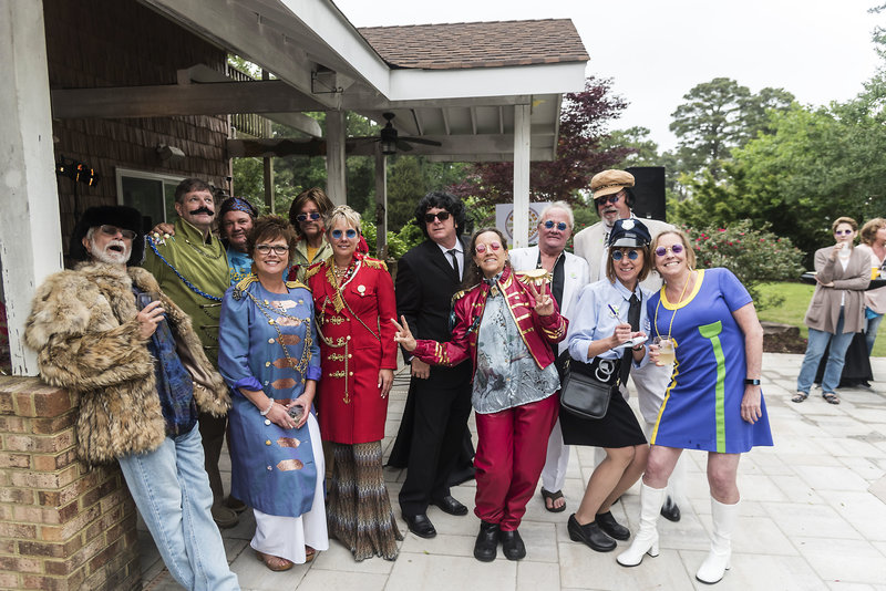 Guests dressed up for a Beatles themed birthday party, Virginia Beach, VA