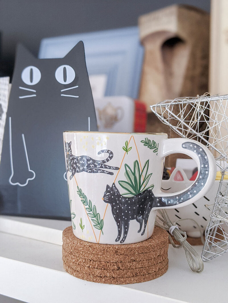 Leopard Mug and Cat