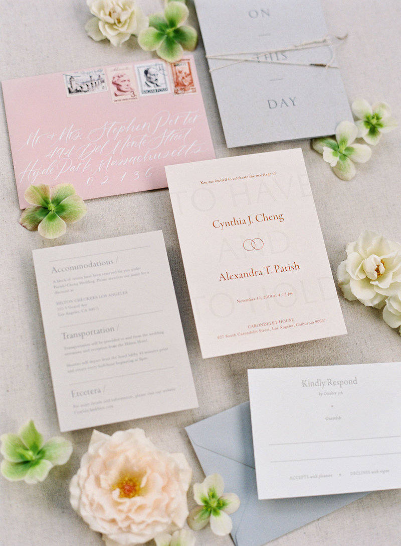 Semi-Custom Invitations -Sacred Vows Full Collection Editorial