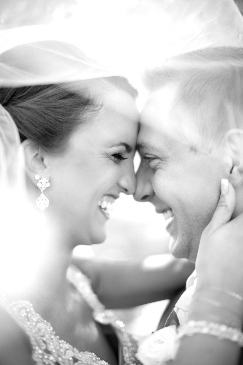 Black and White Sioux Falls Wedding Couple