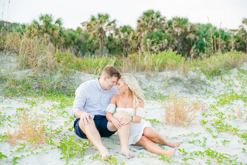 folly beach charleston engagement photos